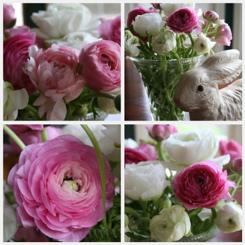 Easter flower collage