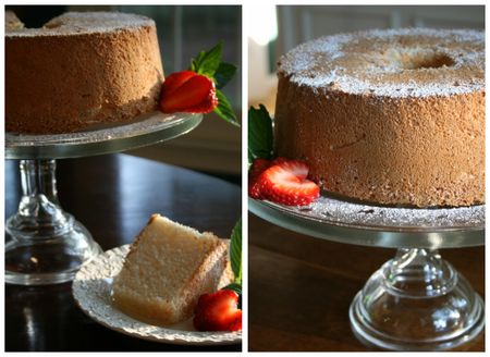 Angel food cake collage