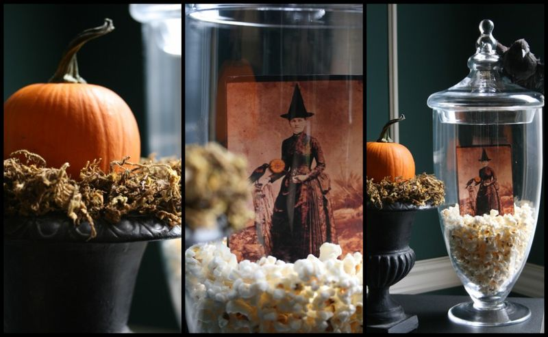 Halloween apothecary collage