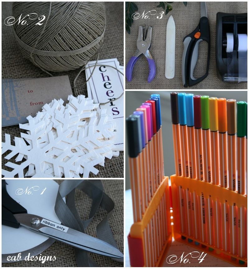 Wrapping tools collage