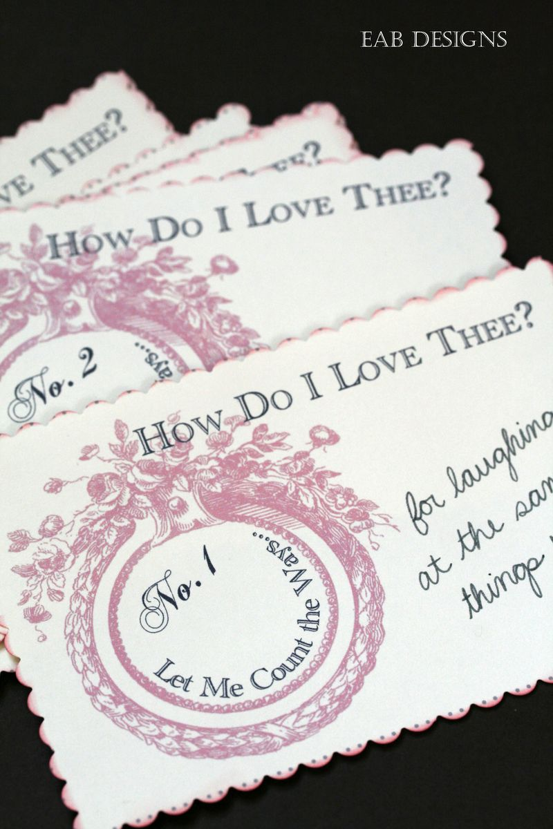 Valentine numbered cards 2