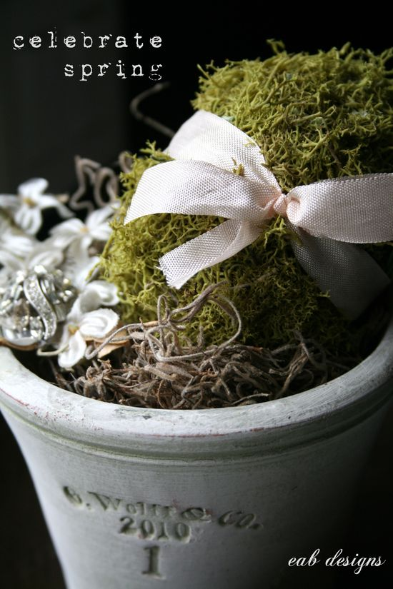 Moss covered eggs 1