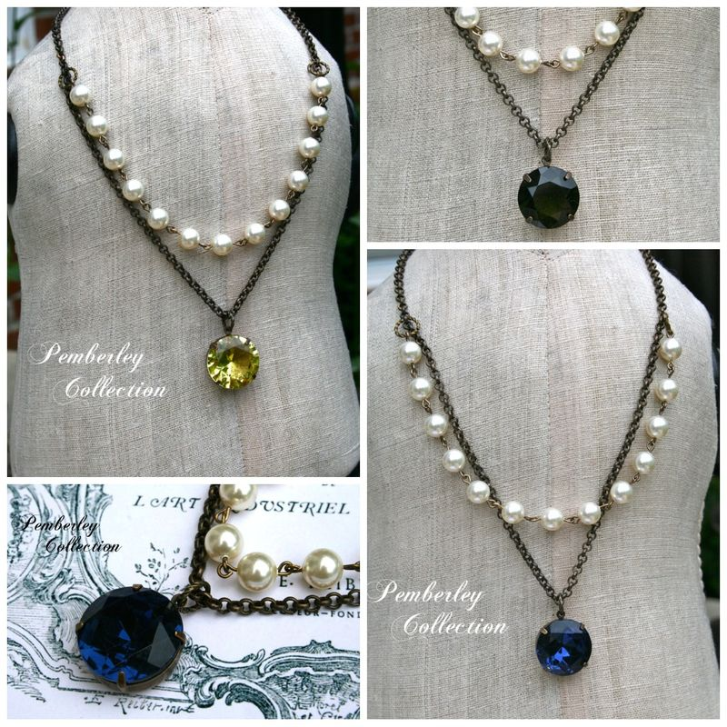 Facted stone necklace collage