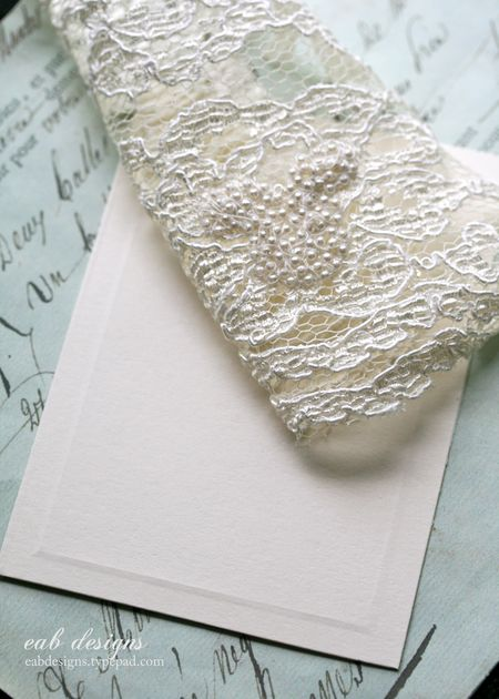 Lace note card 3