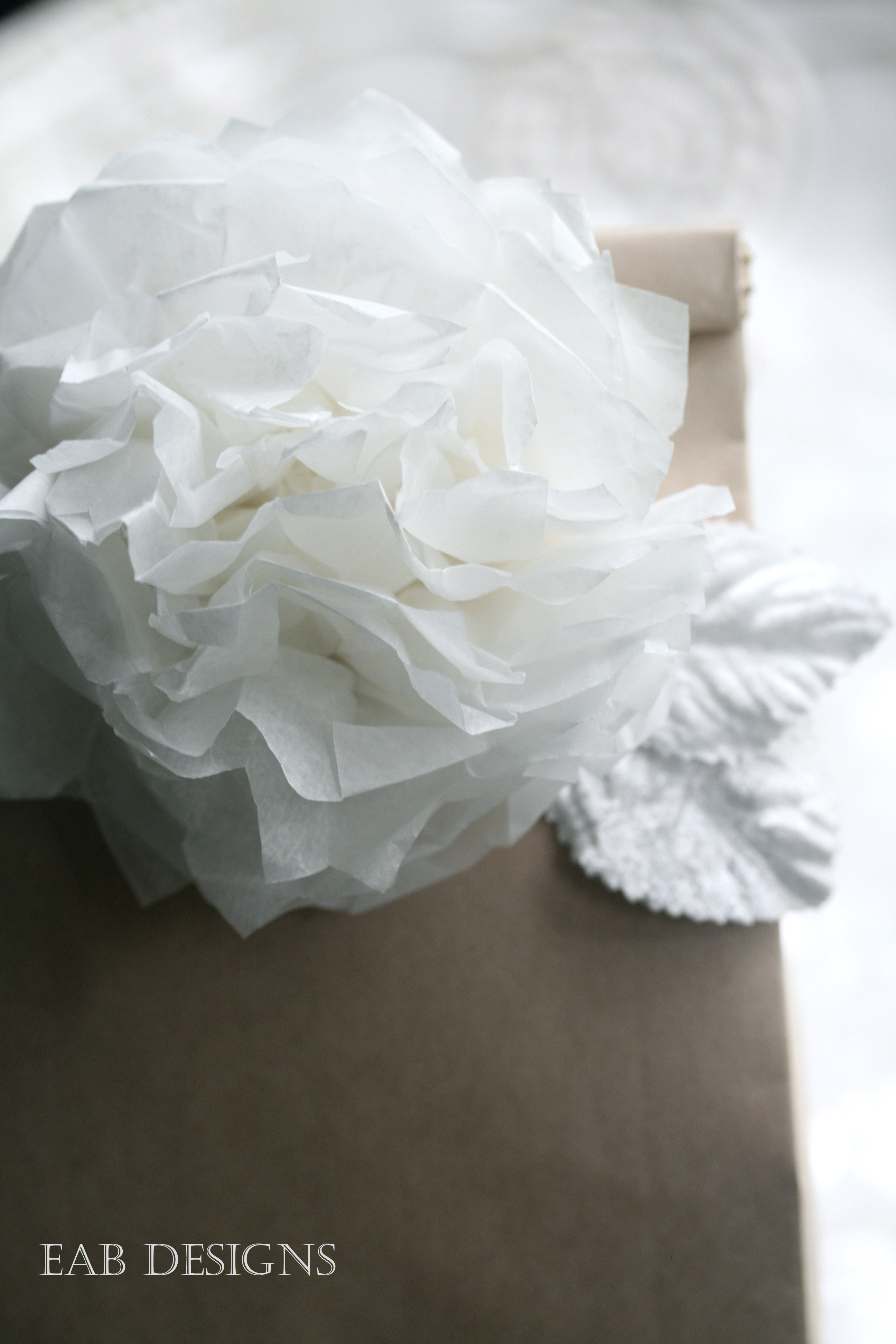 Eab Designs Paper Flower Tutorial Diy Paper Poms