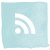 Aqua rss feed icon