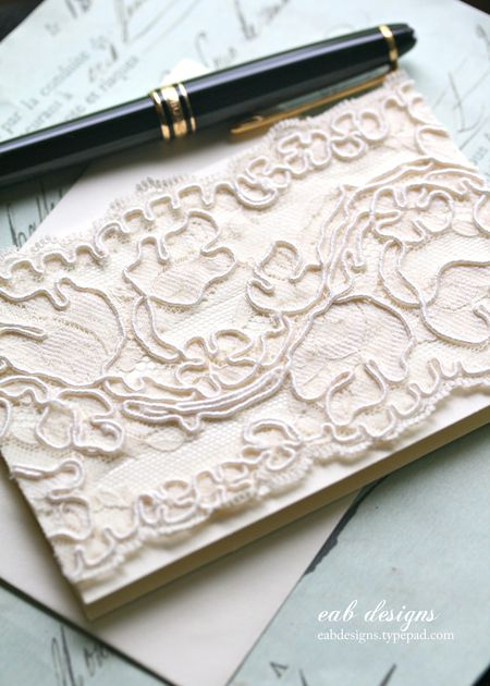 Lace note card 2