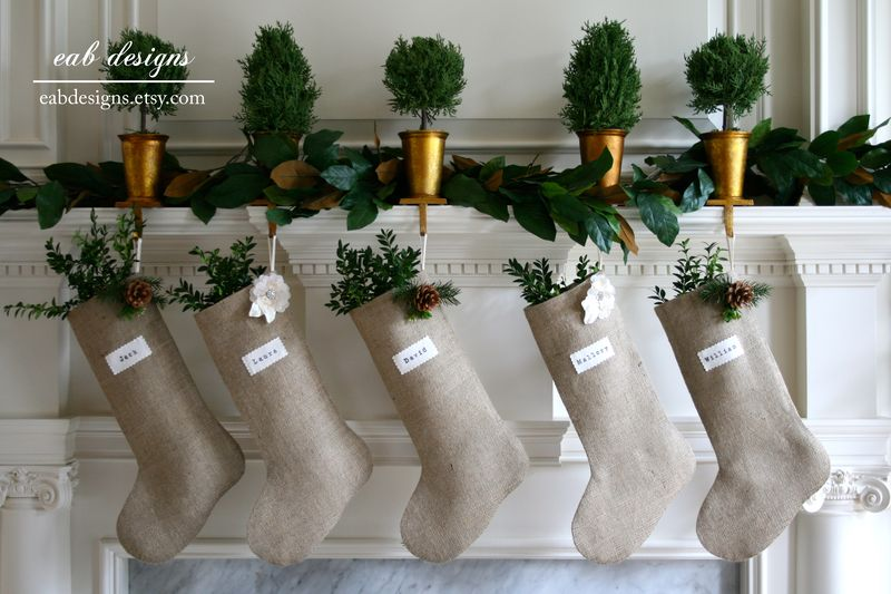 Burlap stocking eab designs 3
