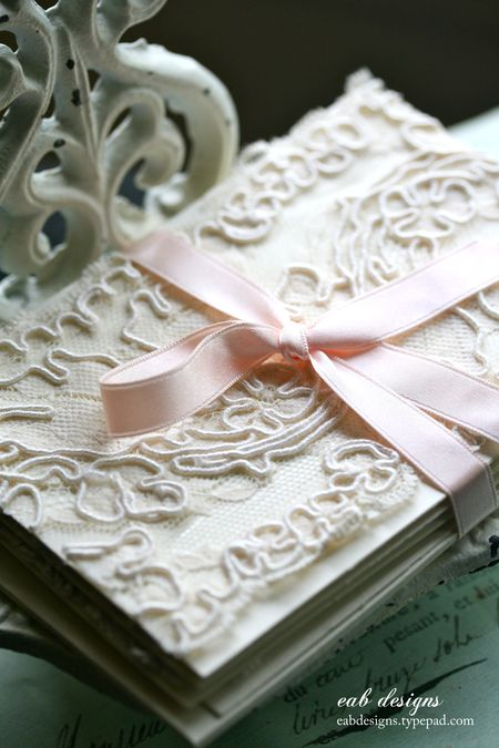 Lace note cards 1