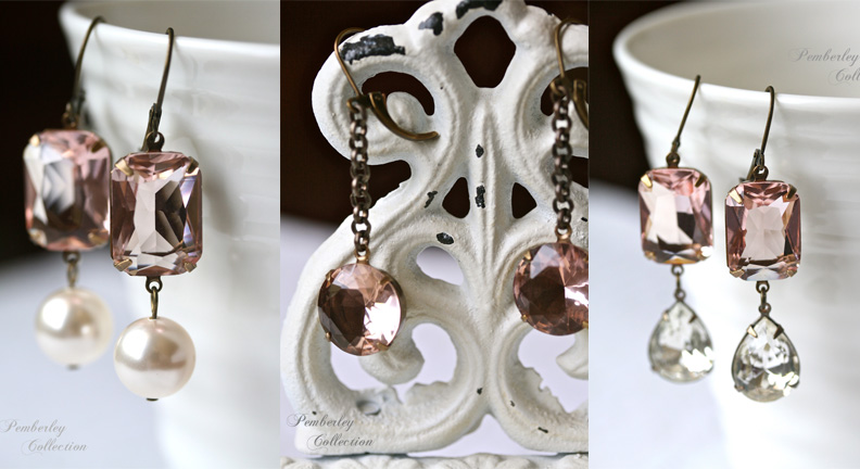 Blush earring collage