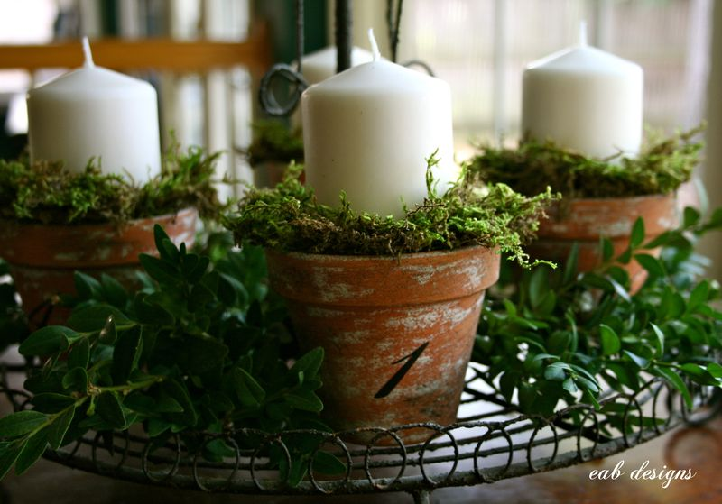 Advent candles 6