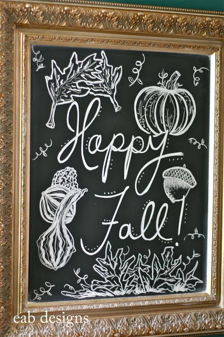 Fall chalkboard eab designs