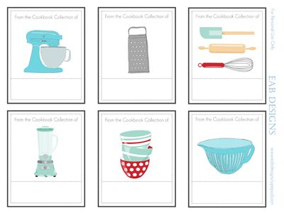 image about Printable Cookbook named EAB Programs: Absolutely free Printable Bookplates for Moms Working day or a