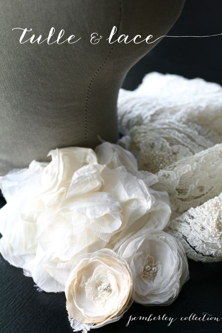 Pemberley collection hair flowers