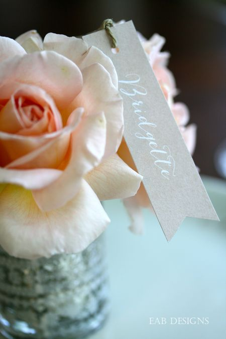 Floral placecard 5