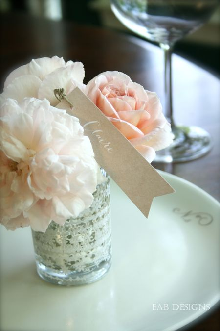 Floral placecard 2