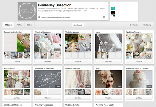 Pemberley collection pinterest boards