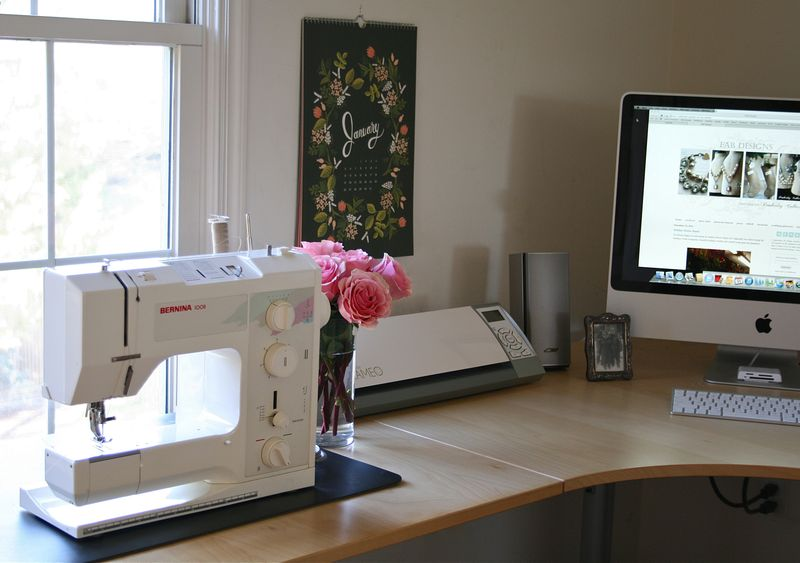EAB DESIGNS studio sewing area
