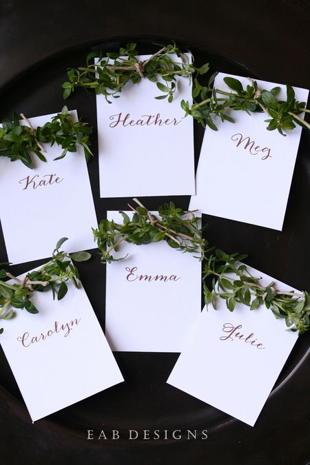 EAB DESIGNS Herb Place Cards 2
