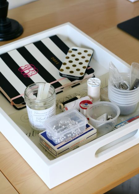 EAB DESIGNS studio tray organization