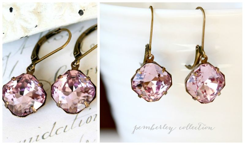 Pemberley Collection light amethyst earrings