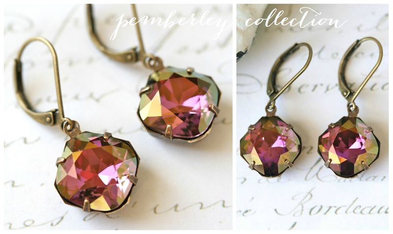Pemberley Collection Lilac Shadow earrings