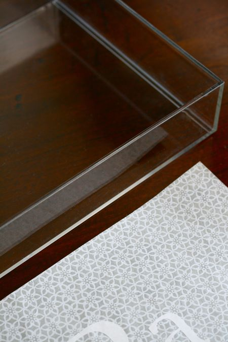 EAB DESIGNS monogrammed lucite tray 4