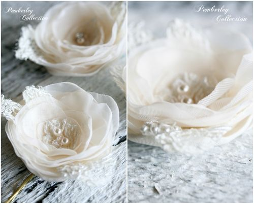 Pemberley collection ivory flowers cl2