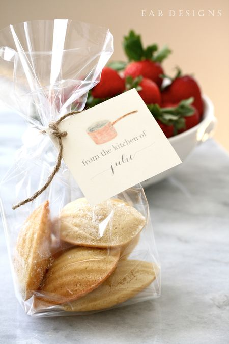 EAB DESIGNS madeleines packaging