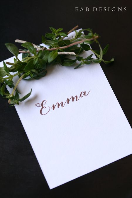 EAB DESIGNS Herb Place Cards 3