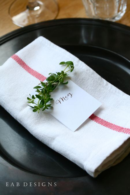 EAB DESIGNS Herb Place Cards 4