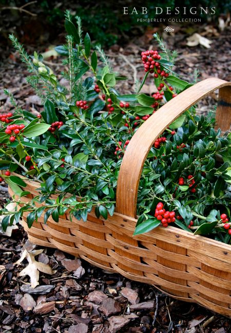 EAB DESIGNS holiday greens basket