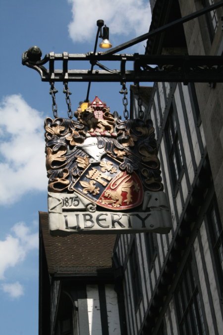 EAB DESIGNS Liberty of London sign