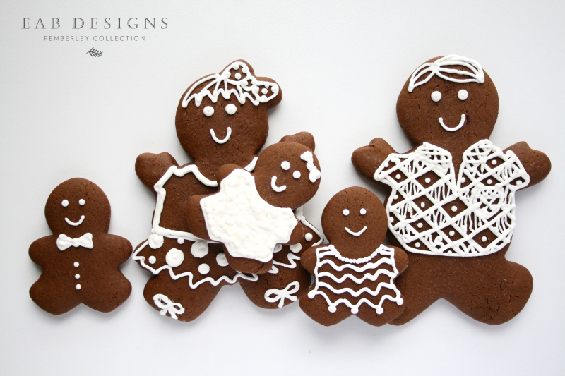 EAB DESIGNS Gingerbread Family