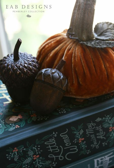 EAB DESIGNS fall decor acorns