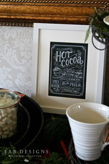 EAB DESIGNS hot cocoa station