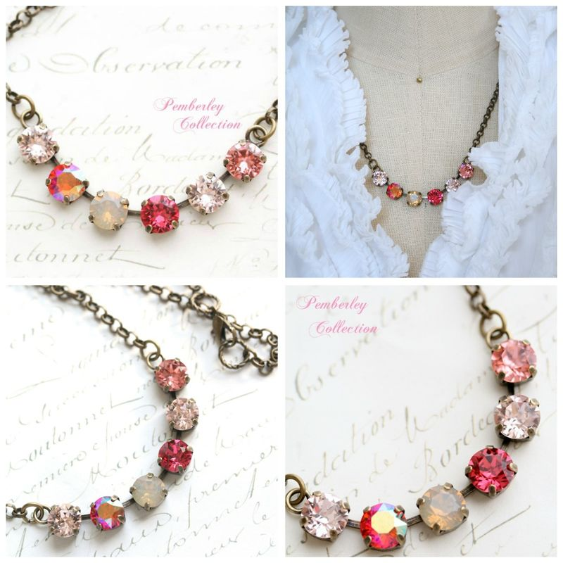 Pemberley Collection Multicolored Blush Necklace