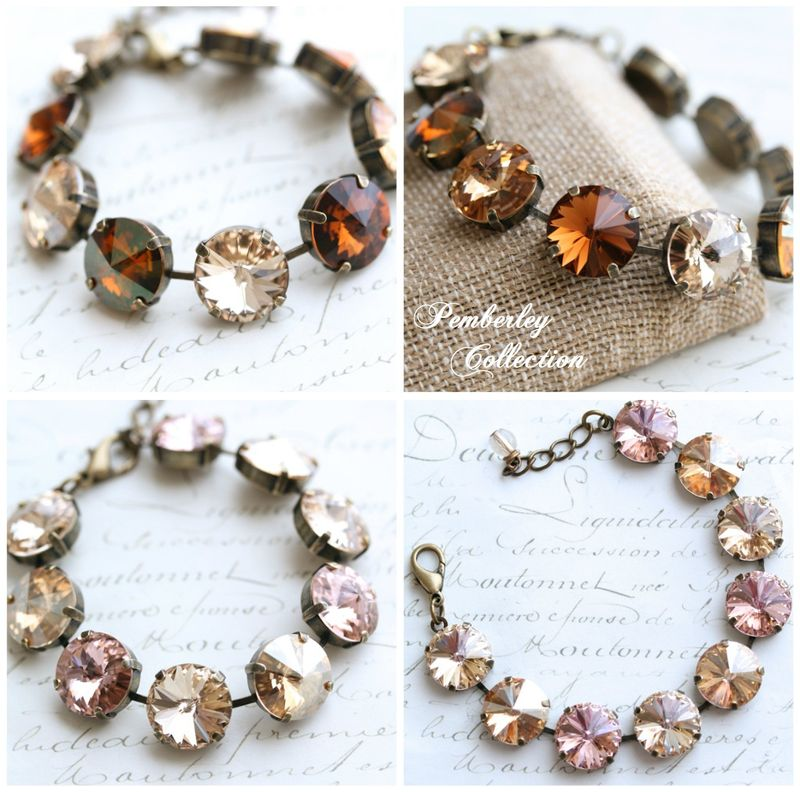 Pemberley Collection Multicolored Swarovski Crystal Bracelets