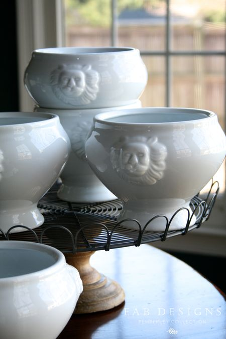 EAB DESIGNS lions head bowls