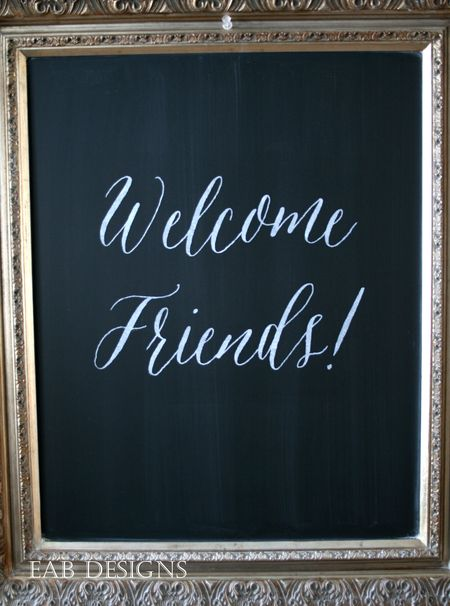 EAB Designs Friends Chalkboard