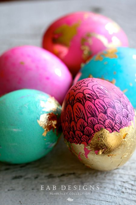 EAB DESIGNS Gold Foiled Eggs