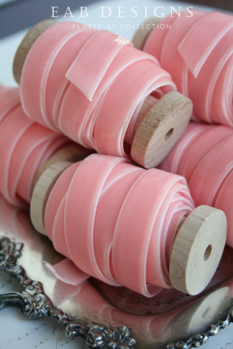 EAB DESIGNS wide blush ribbon 3