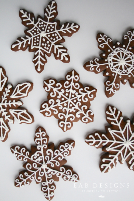 EAB DESIGNS Gingerbread Snowflakes